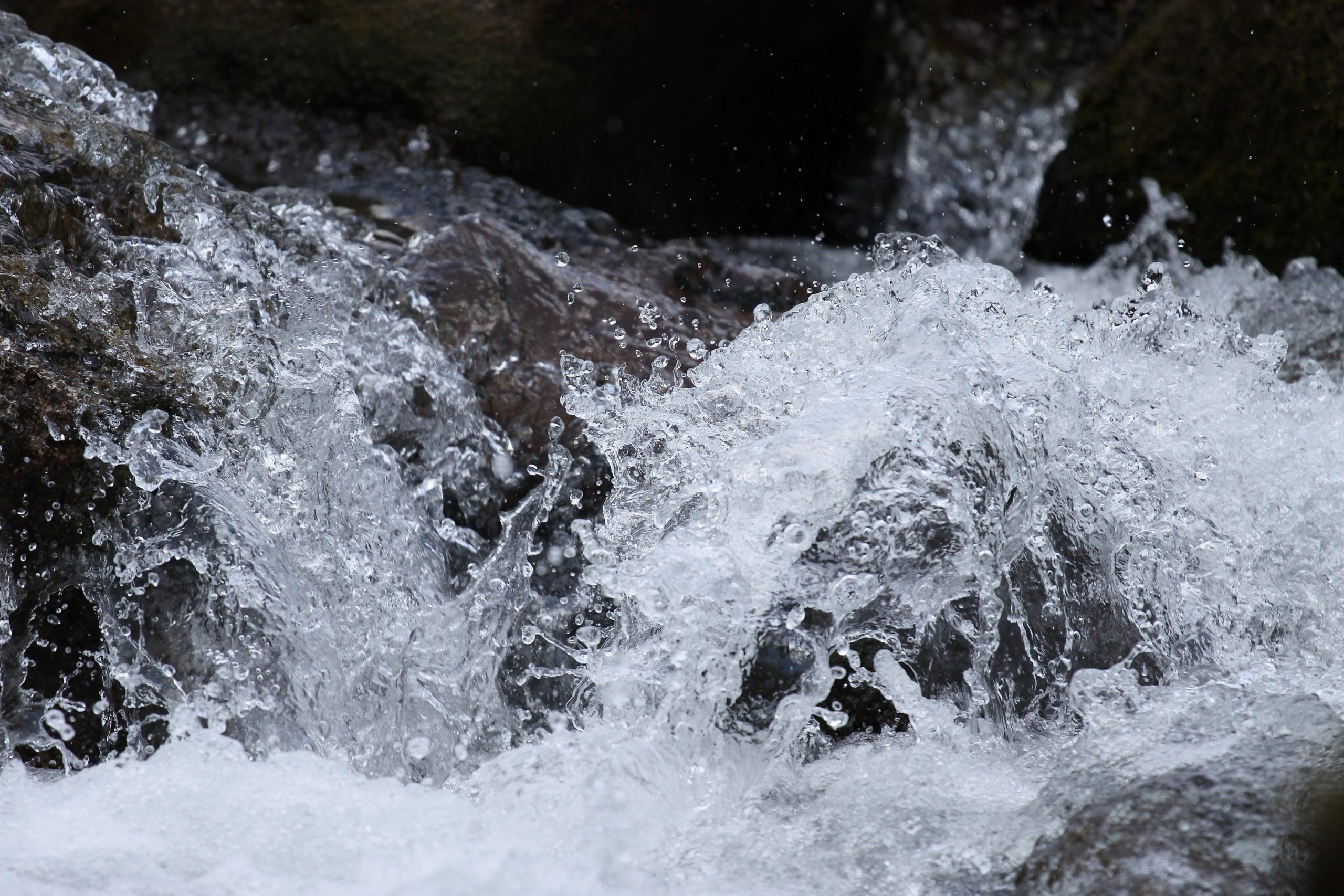rushing water